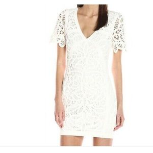 French Connection White crochet dress